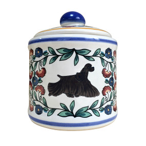 Black Cocker Spaniel sugar bowl - handmade by shepherds-grove.com