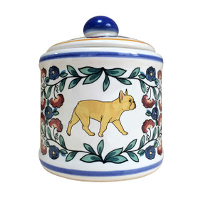 Fawn French Bulldog sugar bowl - handmade by shepherds-grove.com.