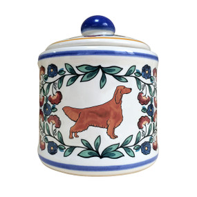 Irish Setter sugar bowl - handmade by shepherds-grove.com