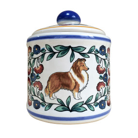 Shetland Sheepdog sugar bowl - handmade by shepherds-grove.com