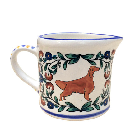 Irish Setter Creamer - handmade by shepherds-grove.com