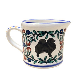 Black Pomeranian creamer - handmade by shepherds-grove.com
