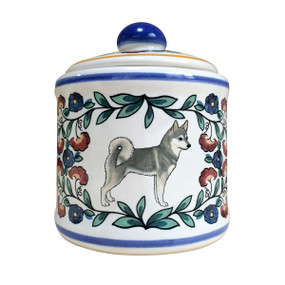 Handmade Alaskan Klee Kai sugar bowl by shepherds-grove.com