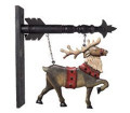 Hanging Reindeer Arrow Replacement Sign