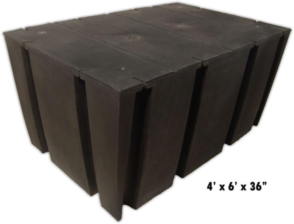 "HarborWare 4' x 6' x 36"" Dock Float Drums, 3500lbs"