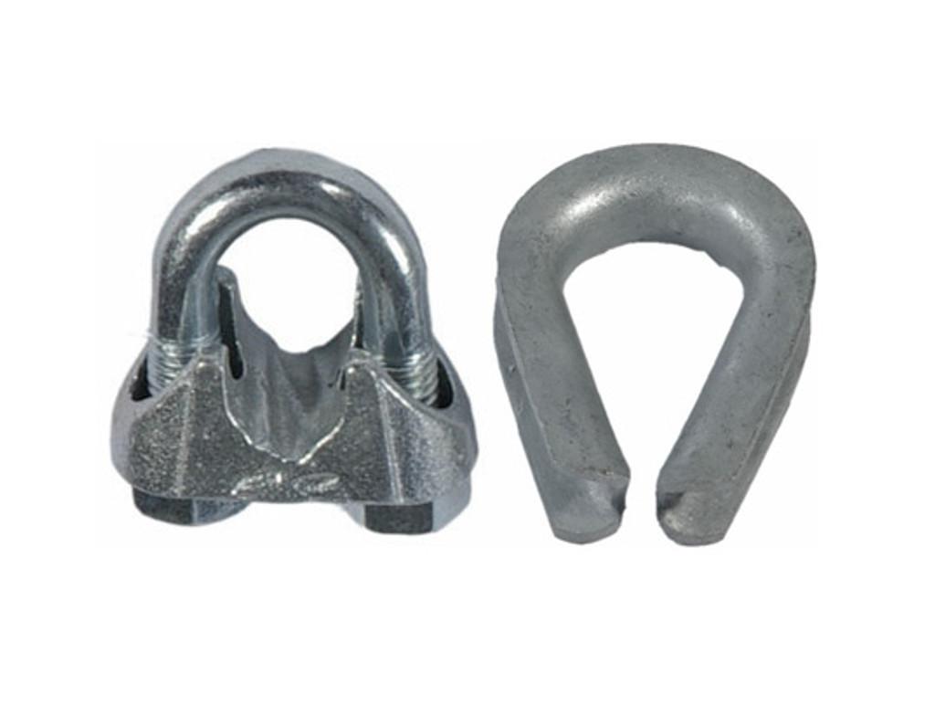 HarborWare Clamp & Thimble Set, Galvanized Steel 1/2-in