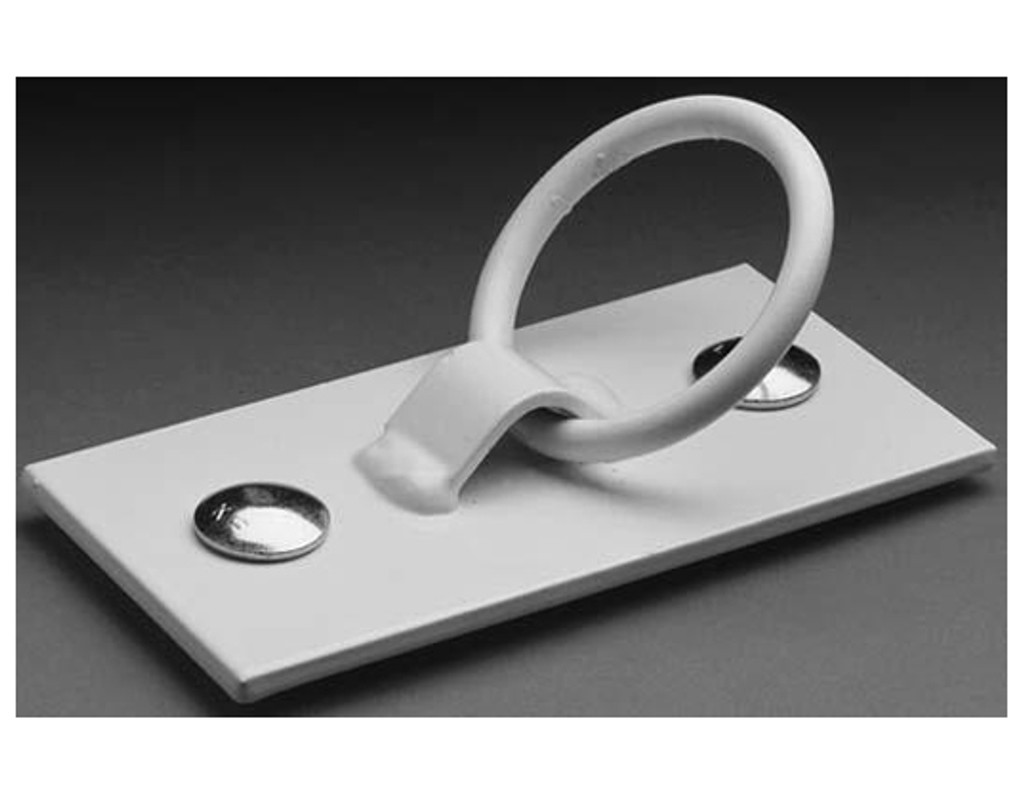 5-inch White Coated Mooring Ring