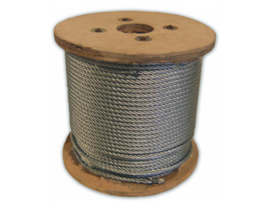 HarborWare Galvanized Steel Cable, 1/4-inch 500'