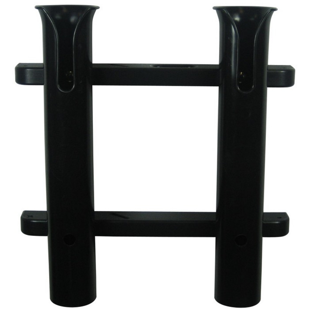 TACO Metals 2-Rod Black PVC Deluxe Fishing Rod Rack
