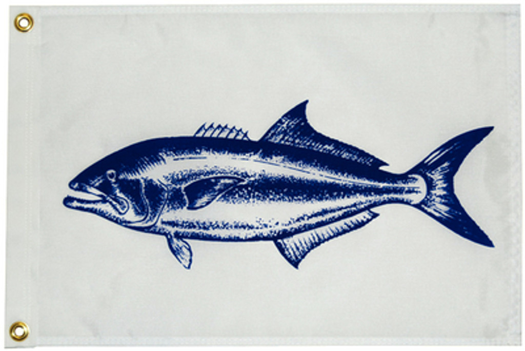 "Taylor Made Flag 12""x18"" Nylon Blue Fish"