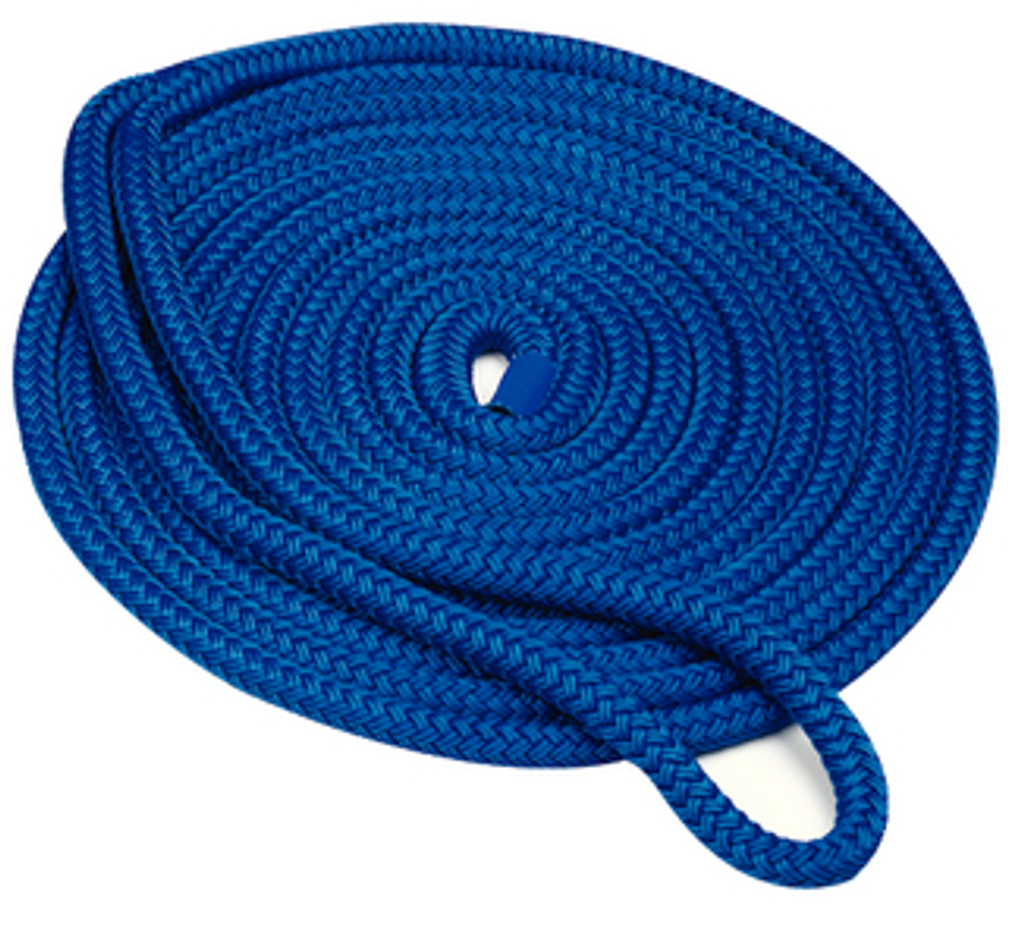 "Seachoice Double Braid Dock Line Blue 5/8""X20'"