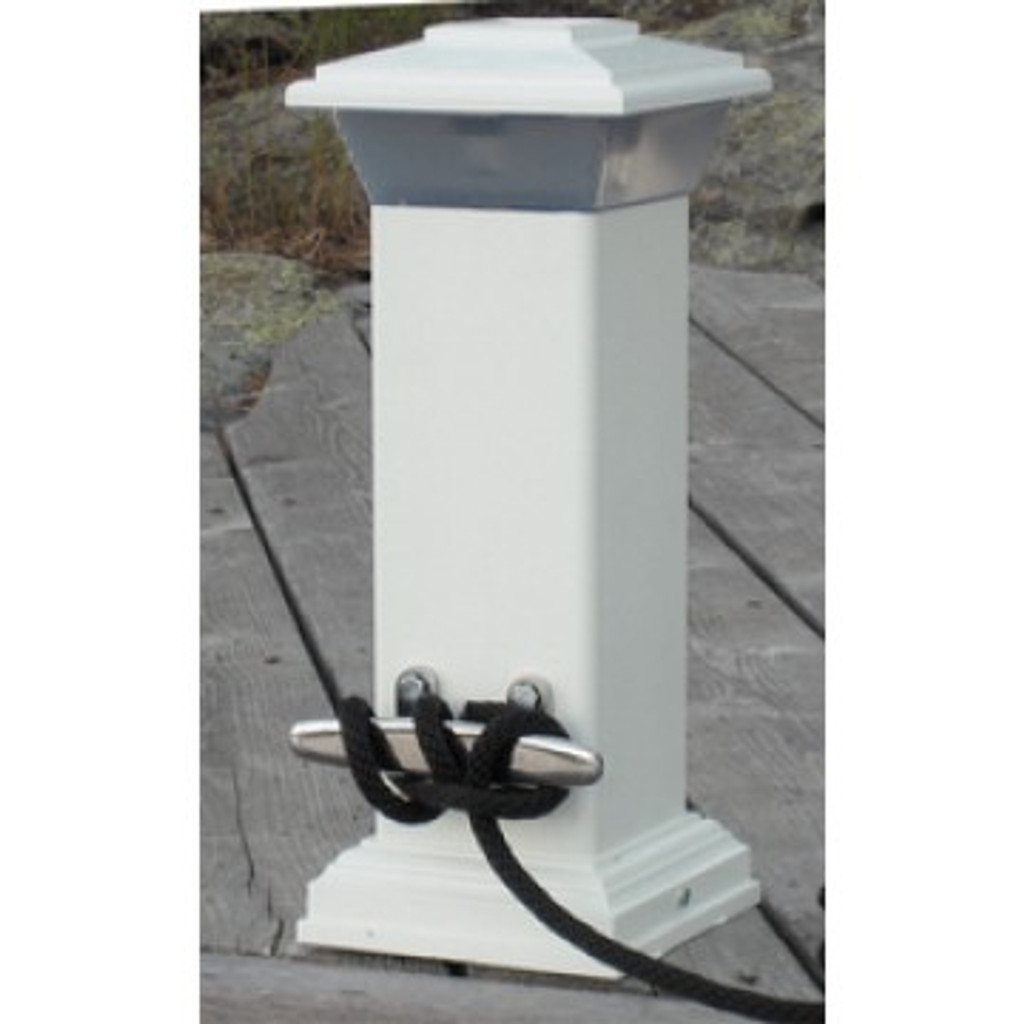 Dock Edge Solar Dock Light & SS Mooring Cleat