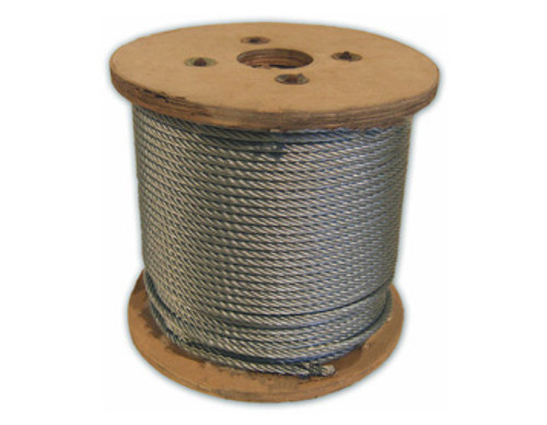 HarborWare Galvanized Steel Cable, 3/8-inch 500'