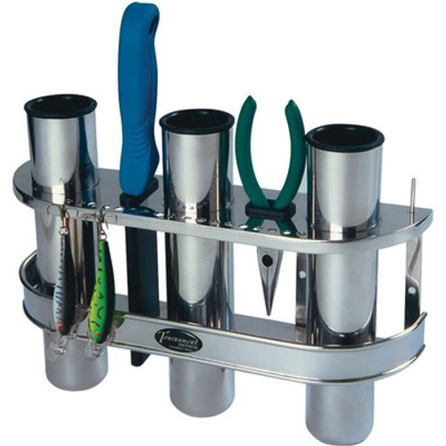 Tempress Products Stainless Steel 3-Rod Fishing Pole Rack