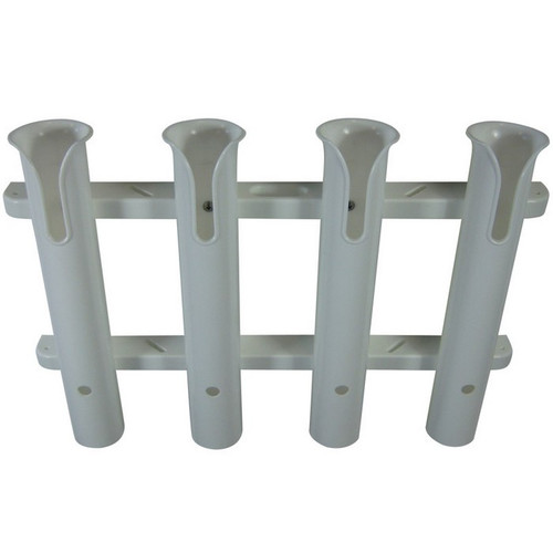 TACO Metals 4-Rod White PVC Deluxe Fishing Rod Rack