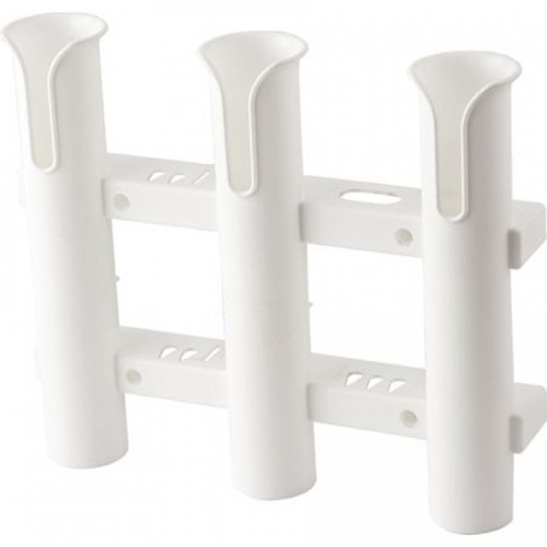 Sea-Dog Line, 3-Pole Fishing Rod Storage Rack, White