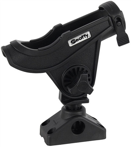 Scotty Bait Caster / Spinning Rod Holder, Black