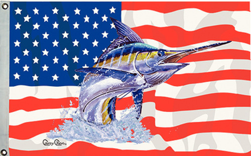 Taylor Made Flag USS/Blue Marlin 16X24