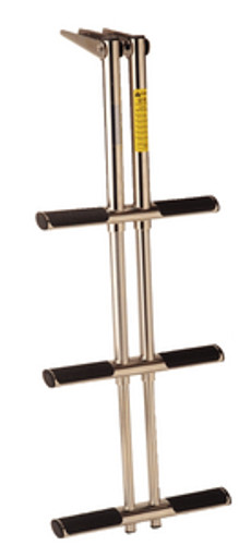 Garelick 3 Step Telescoping Stainless Steel Over Platform Ladder
