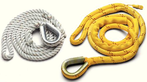 "New England Ropes Mooring Pendant 5/8""X12' Thimble, Poly/Nylon"