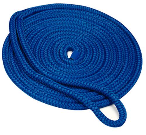 """Seachoice Double Braid Dock Line Blue 3/8""""X25'"""