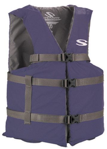 Stearns Type III General Purpose Vest, Blue, Standard Fit