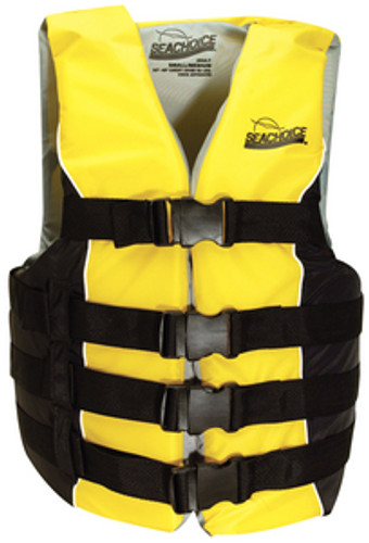 Seachoice Deluxe 4-Belt Ski Vest, Yellow