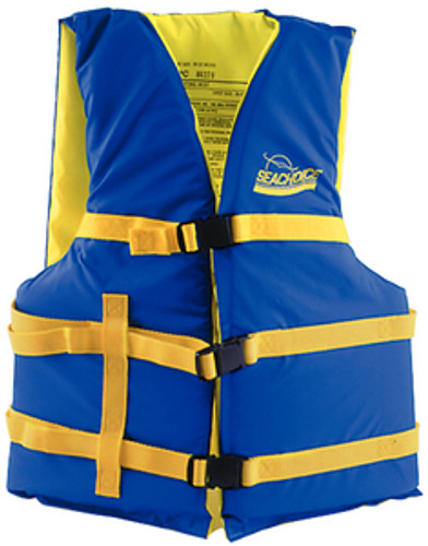 Seachoice Universal Boat Vest, Blue/Yellow