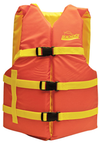 Seachoice Universal Boat Vest, Orange/Yellow