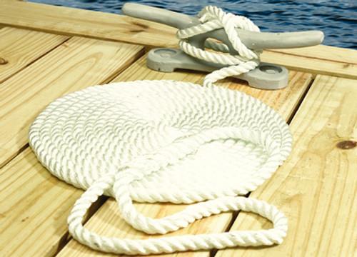 "Seachoice 3-Strand Nylon 1/2""X15' Dock Line, 12-Pack"