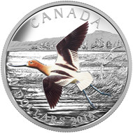 2016 $20 FINE SILVER COIN THE MIGRATORY BIRDS CONVENTION: 100 YEARS OF PROTECTION THE AMERICAN AVOCET