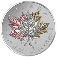 2016 $300 PURE PLATINUM COIN MAPLE LEAF FOREVER