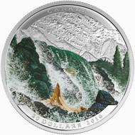 2016 $20 FINE SILVER COIN LANDSCAPE ILLUSION: SALMON