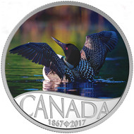 2017 $10 FINE SILVER COIN CELEBRATING CANADA'S 150TH: COMMON LOON