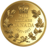 2017 $200 PURE GOLD COIN 150 YEARS OF PASSION: THE MAPLE LEAF