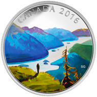 2016 $20 FINE SILVER COIN CANADIAN LANDSCAPE SERIES - REACHING THE TOP