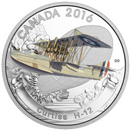 2016 $20 FINE SILVER COIN – AIRCRAFT OF THE FIRST WORLD WAR SERIES: CURTISS H-12