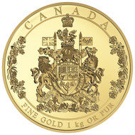 2016 $2,500 PURE GOLD COIN THE ARMS OF CANADA