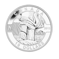 2013 $10 FINE SILVER COIN O CANADA SERIES - INUKSHUK