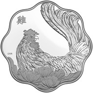 2017 $15 FINE SILVER COIN LUNAR LOTUS – YEAR OF THE ROOSTER