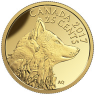 2017 25-CENT PURE GOLD COIN - PREDATOR VS. PREY: INUIT ARCTIC FOX