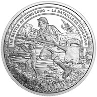 2016 $20 FINE SILVER COIN - SECOND WORLD WAR: BATTLEFRONT SERIES - THE BATTLE OF HONG KONG