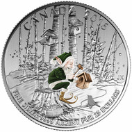 2016 $25 FINE SILVER COIN WOODLAND ELF