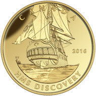 2016 $200 PURE GOLD COIN - TALL SHIPS LEGACY: HMS DISCOVERY