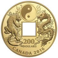 2016 $200 PURE GOLD COIN TIGER AND DRAGON YIN AND YANG