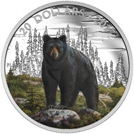 2017 $20 FINE SILVER COIN THE BOLD BLACK BEAR