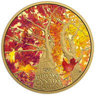 2017 $250 PURE GOLD COIN MAPLE CANOPY: KALEIDOSCOPE OF COLOUR