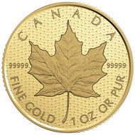 2017 $200 PURE GOLD COIN CANADA 150 ICONIC MAPLE LEAF