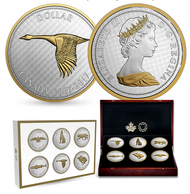 2017 5-OUNCE FINE SILVER 6-COIN SET - BIG COIN SERIES - ALEX COLVILLE DESIGNS (1967 COINAGE)