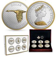 2017 5-OUNCE FINE SILVER 6-COIN SET - BIG COIN SERIES - ALEX COLVILLE DESIGNS (1967 COINAGE)
